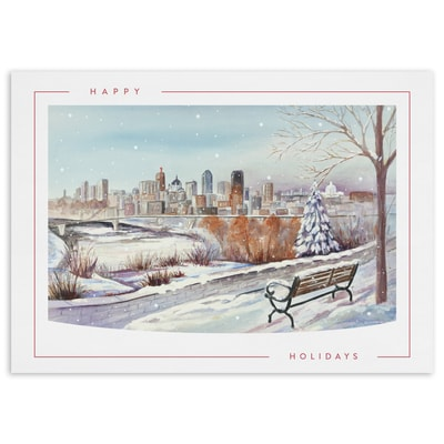 Evening Snow, St. Paul - Happy Holidays