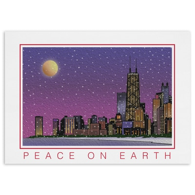 City Lights, Chicago - Peace on Earth