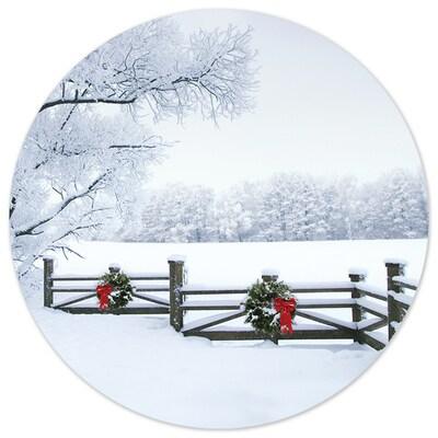 Frosty Winter Scene Seal