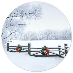 Frosty Winter Scene Seal