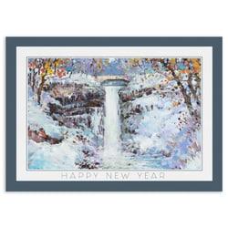 Winter Morning at Minnehaha Falls - Happy New Year