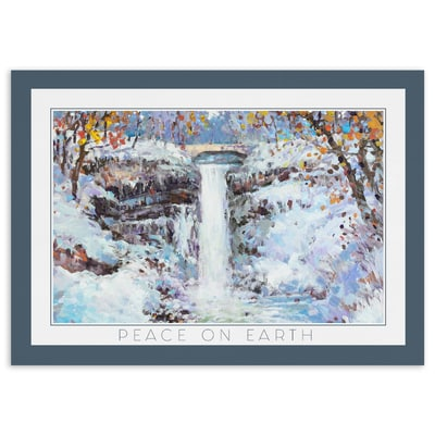 Winter Morning at Minnehaha Falls - Peace on Earth