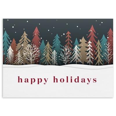 Colored Treeline - Happy Holidays