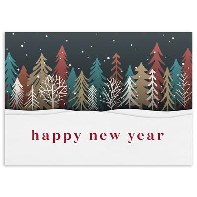 Colored Treeline Happy New Year