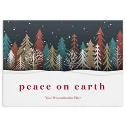 Colored Treeline Peace on Earth