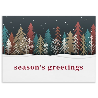 Colored Treeline - Season's Greetings