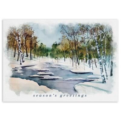 Winter Stream - Season's Greetings