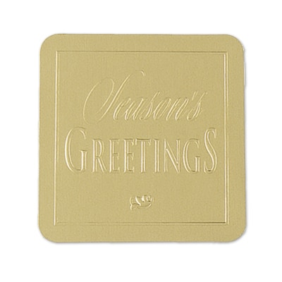 Gold Season's Greeting Seal