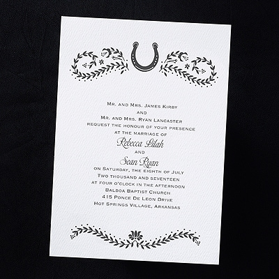 love country invitation horseshoe spanish invitations all