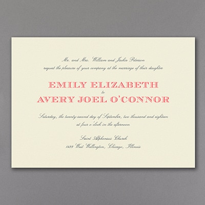 Sophisticated Typography - Invitation