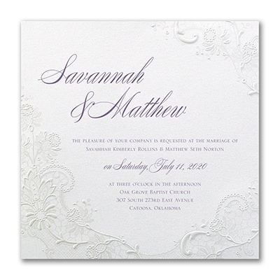 Lacy Shimmer - Invitation