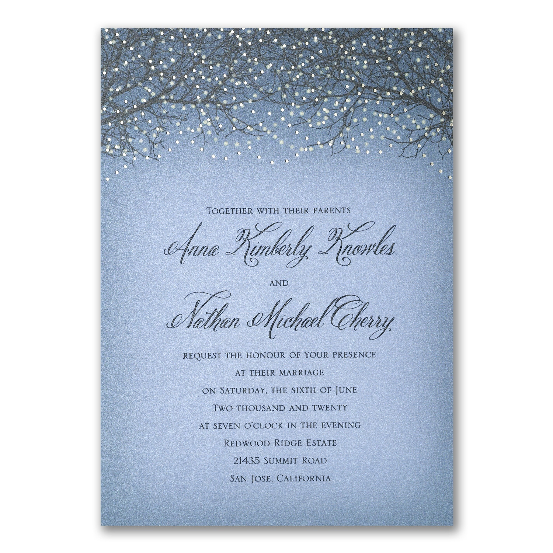 Glowing Fantasy Invitation Wedding Invitations Carlson Craft