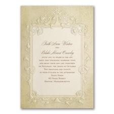 Vintage wedding invitation: Antique Frame
