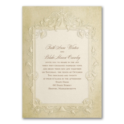 Antique Frame - Invitation