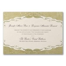 Vintage wedding invitation: Storybook Charm