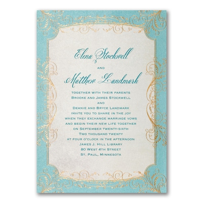 Whimsical Vines - Invitation