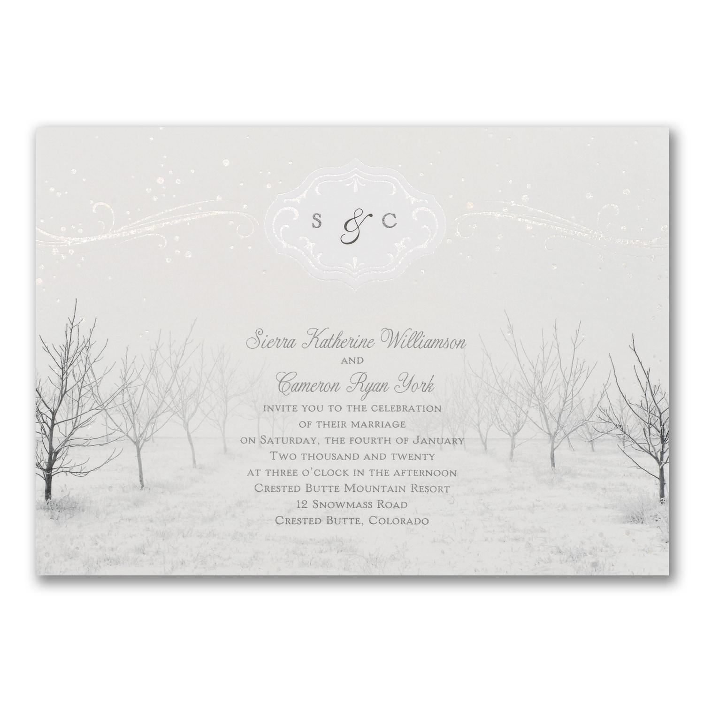 Winter Wonderland Invitation Wedding Invitations Carlson Craft