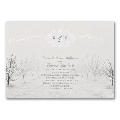 winter wonderland invitation wedding invitations carlson craft