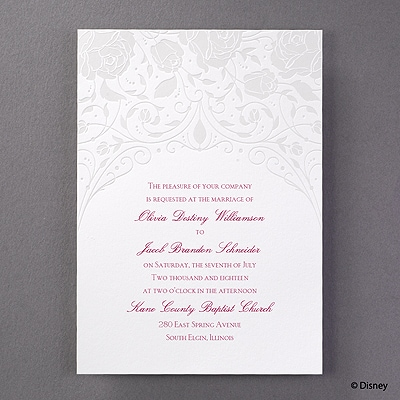 Dreamy Roses - Aurora - Invitation