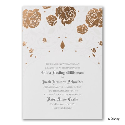 Roses and Romance - Sleeping Beauty - Invitation