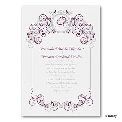 Fairy Tale Filigree Anna Invitation Disney Fairy Tale Weddings