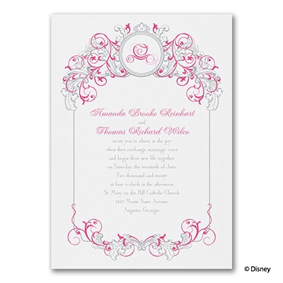 Fairy Tale Filigree - Disney Inspired - Invitation