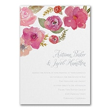 Fresh Flowers - Invitation
