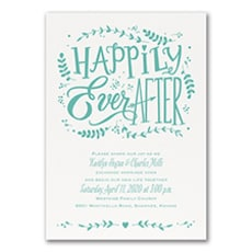 Fairy Tale Ending - affordable and cheap invitation