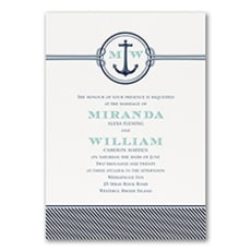 Nautical Romance - Wedding Invitation