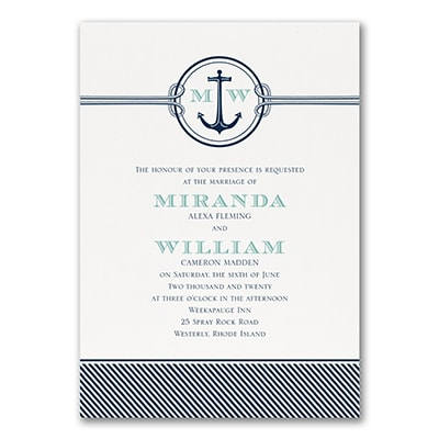 Nautical Romance - Invitation