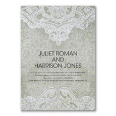 Vintage Burlap  - Wedding Invitation