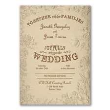 Country Floral - Invitation