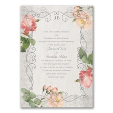 Elegant Roses - Invitation