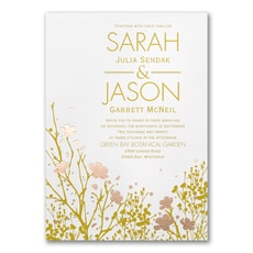 Botanical Garden - Wedding Invitation