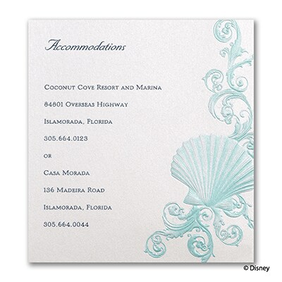Beneath the Waves - Ariel - Accommodation Card