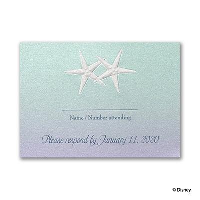 Mermaid Treasures - Ariel - Response Card and Envelope