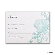 Beneath the Waves - Ariel - Response Card and Envelope