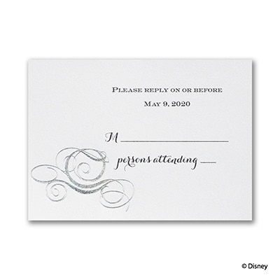 Fairy Tale Carriage - Response Card and Envelope