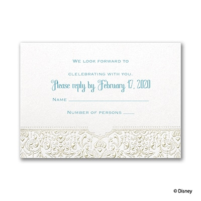 Bohemian Chic - Jasmine - Response Card and Envelope