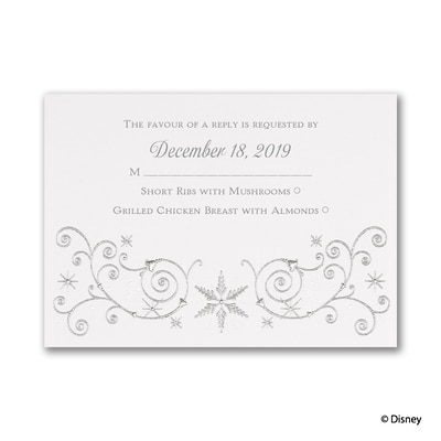 Winter's Beauty - Elsa - Response Card and Envelope
