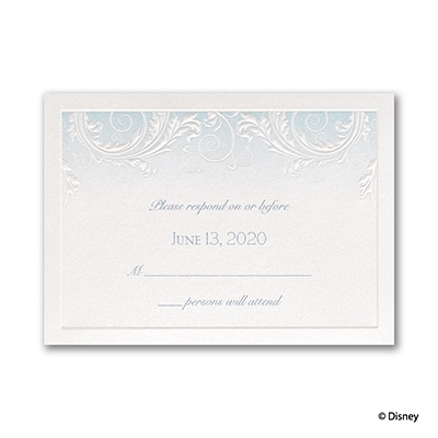 Classic Charm - Cinderella - Response Card and Envelope