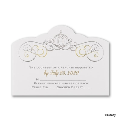 Enchanted - Cinderella - Response Card and Envelope