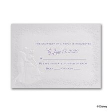 Destined for Love - Cinderella - Response Card and Envelope