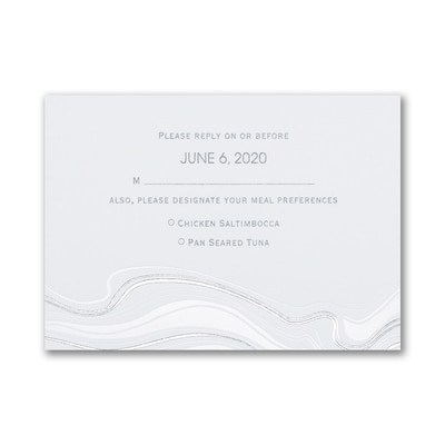 Topographic Marble - Response Card and Envelope