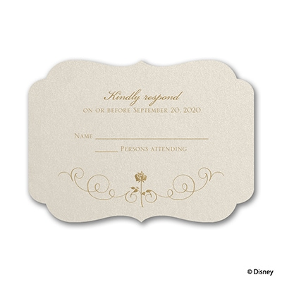 Luxurious Rose - Belle - Response Card and Envelope