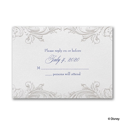 Golden Fairy Tale - Response Card and Envelope