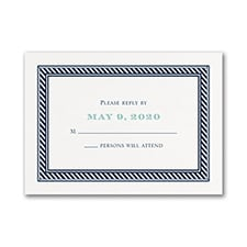 Nautical Romance - Response Card and Envelope