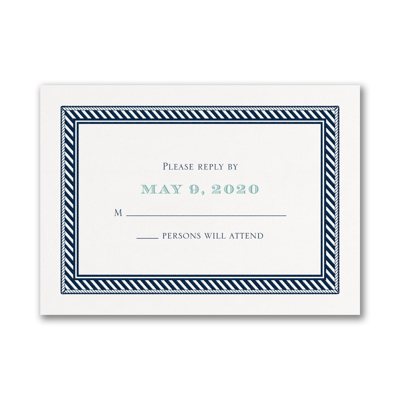 Nautical Romance - Response Card and Envelope > RSVP Cards | Staples