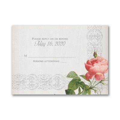 Elegant Roses - Response Card and Envelope