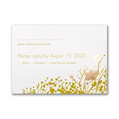 Botanical Garden - Response Card and Envelope